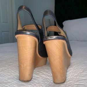 Coach Shoes - Coach Wooden platform sandals